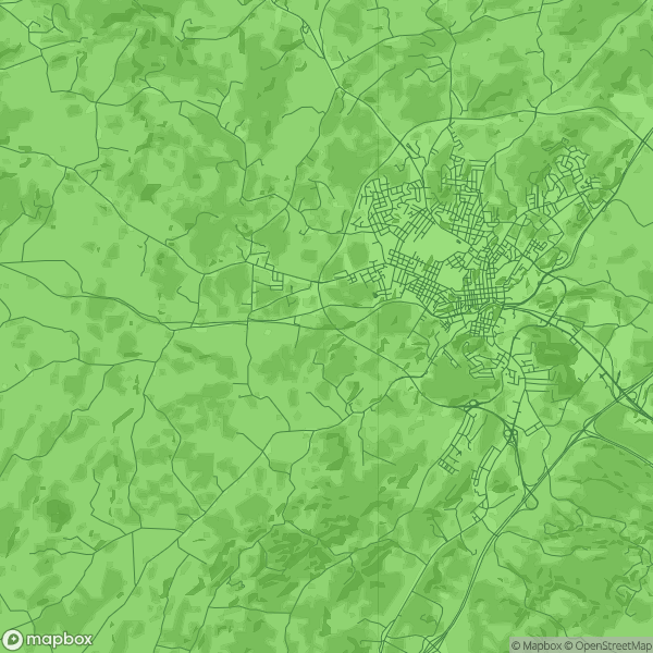 A Mapbox map of Staunton, VA