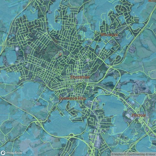 staunton va map