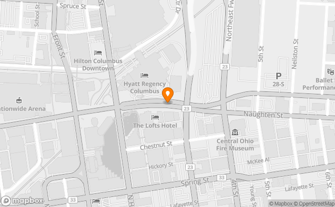 map of law firms location in Columbus Ohio