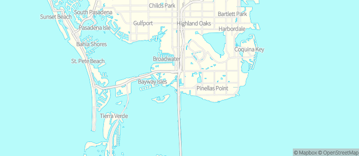 The boat's approximate location on a map