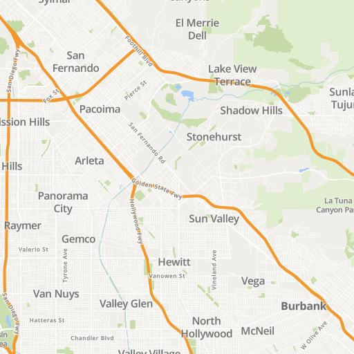 Sylmar California Map Global Map