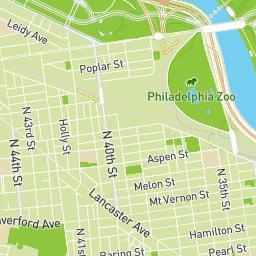 PEC West Philadelphia History Map - Philadelphia map