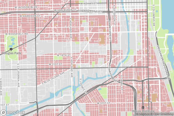 Chicago Redline Districts and Highway Locations