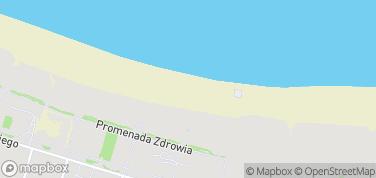 Plaża w Świnoujściu – mapa