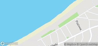 Plaża Miedzyzdroje – mapa