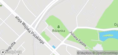Park Miejski Różanka – mapa