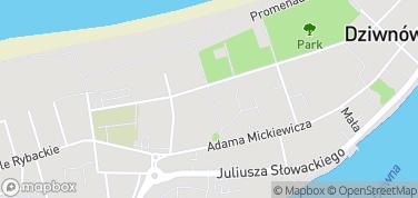 Aleja Gwiazd Sportu – mapa