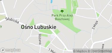 Baszta Krzaków i kompletne mury obronne – mapa