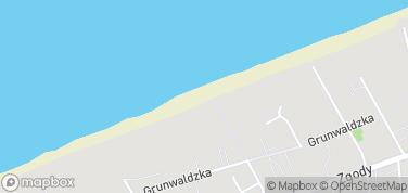 Plaża w Pobierowie – mapa