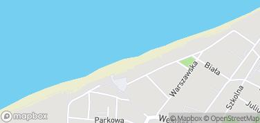 Plaża Rewal – mapa