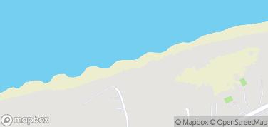 Dźwirzyno, plaża – mapa