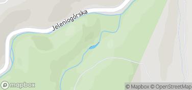 Wodospad Szklarki – mapa