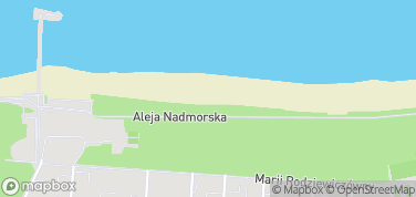 Plaża w Kołobrzegu – mapa