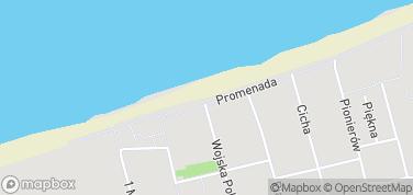 Plaża w Mielnie – mapa