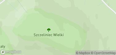 Szczeliniec Wielki – mapa