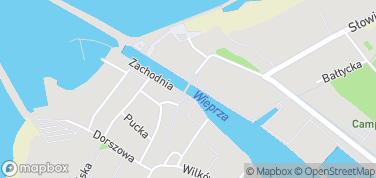 Most rozsuwany – mapa
