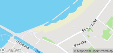 Plaża w Darłowie – mapa