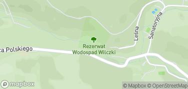 Wodospad Wilczki – mapa