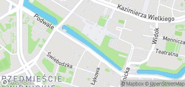 Promenada Staromiejska i Podwale – mapa