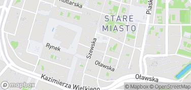 Mostek Pokutnic – mapa