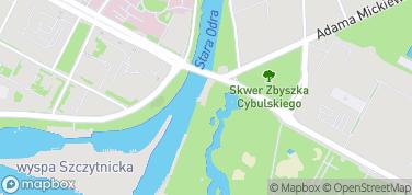 Rejsy statkiem po Odrze – mapa
