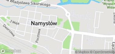 Mury obronne z Bramą Krakowską – mapa