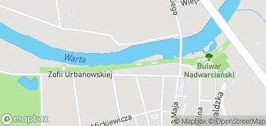 Bulwar Nadwarciański – mapa