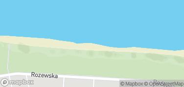 Plaża w Jastrzębiej Górze – mapa