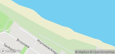 Plaża Władysławowo (zachodnia) – mapa