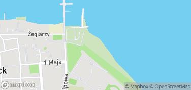 Plaża w Pucku – mapa
