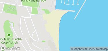 Plaża Miejska w Gdyni – mapa