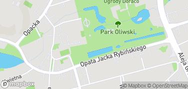 Park Oliwski – mapa