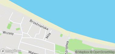 Plaża Brzeźno – mapa