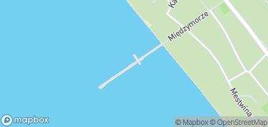 Molo w Juracie – mapa