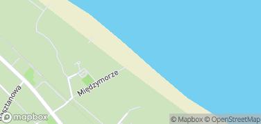 Jurata, plaża – mapa
