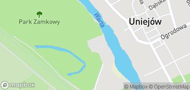 Zamek w Uniejowie – mapa