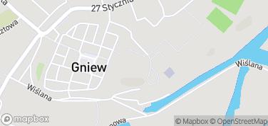 Zamek w Gniewie – mapa