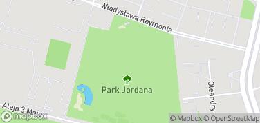 Park Jordana – mapa