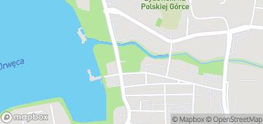 Zamek krzyżacki w Ostródzie – mapa