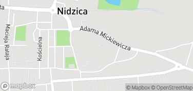 Zamek w Nidzicy – mapa