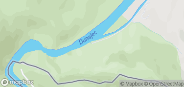 Przeprawa do szlaku na Sokolicę – mapa