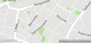 Ulica Dąbrowszczaków – mapa