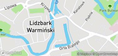 Zamek biskupów warmińskich – mapa