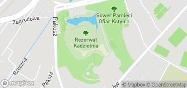 Rezerwat przyrody Kadzielnia – mapa