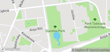 Park Ujazdowski – mapa