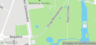 Łazienki Królewskie – mapa