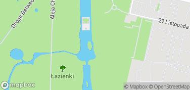 Amfiteatr w Łazienkach Królewskich – mapa
