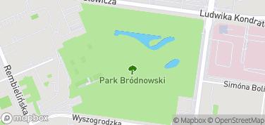 Park Bródnowski – mapa