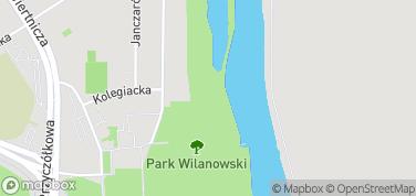 Park Wilanowski – mapa
