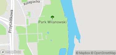 Pałac w Wilanowie - Ogrody – mapa